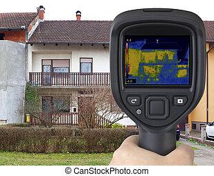 House Facade Infrared Image
