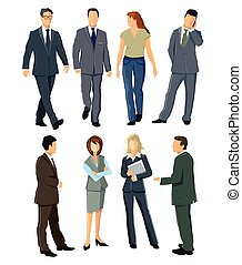 Personen-.eps - Persons and employees