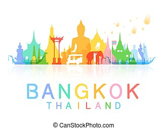 bangkok Thailand. Vector and Illustration