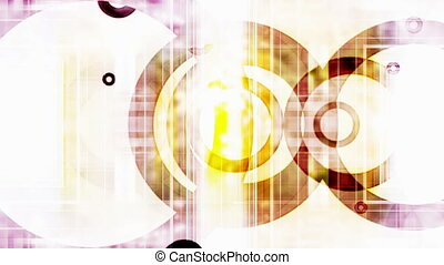 VJ Retro Circles loop - Abstract VJ Retro Circles loop