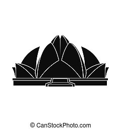 Lotus Temple, New Delhi icon, simple style - Lotus Temple,...