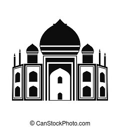 Taj Mahal, India icon, simple style - Taj Mahal, India icon...