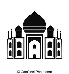 Taj Mahal, India icon, simple style - Taj Mahal, India icon...
