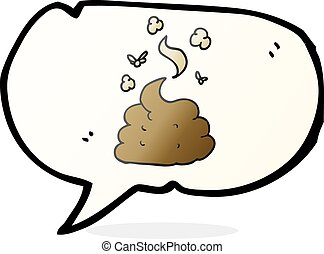 speech bubble cartoon gross poop - freehand drawn speech...