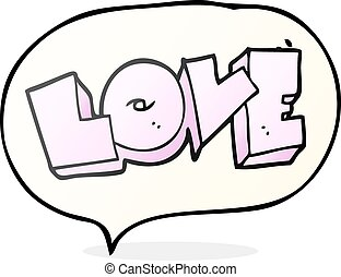 speech bubble cartoon love sign - freehand drawn speech...