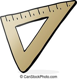 cartoon set square - freehand drawn cartoon set square