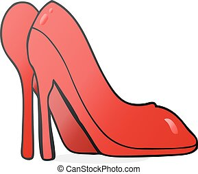 cartoon high heel shoes - freehand drawn cartoon high heel...