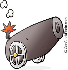 cartoon cannon - freehand drawn cartoon cannon