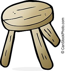 cartoon wooden stool