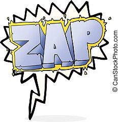 speech bubble cartoon zap symbol - freehand drawn speech...
