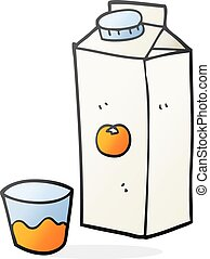 cartoon orange juice - freehand drawn cartoon orange juice