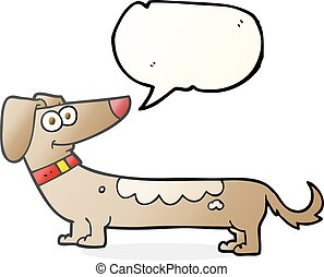 speech bubble cartoon dog