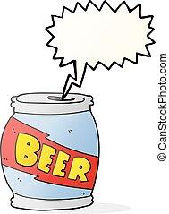 speech bubble cartoon beer can - freehand drawn speech...
