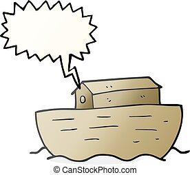 speech bubble cartoon noahs ark - freehand drawn speech...