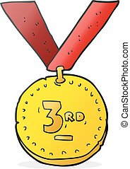 cartoon sports medal - freehand drawn cartoon sports medal