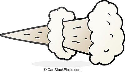 cartoon smoke blast - freehand drawn cartoon smoke blast