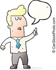 speech bubble cartoon businessman
