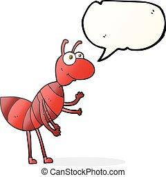 speech bubble cartoon ant - freehand drawn speech bubble...