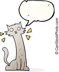 speech bubble cartoon cat - freehand drawn speech bubble...