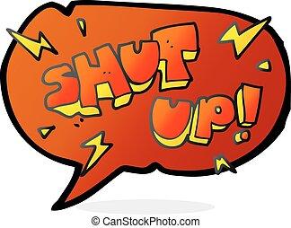 speech bubble cartoon shut up symbol - freehand drawn speech...