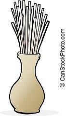 cartoon reeds in vase