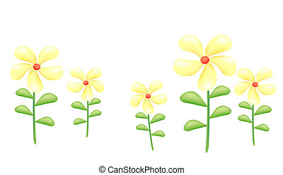 yellow wild flower - a group of yellow wild flower on the...