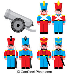 childrens toys - set of vector images of childrens toys -...