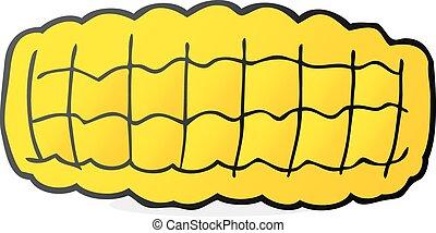 cartoon corn cob