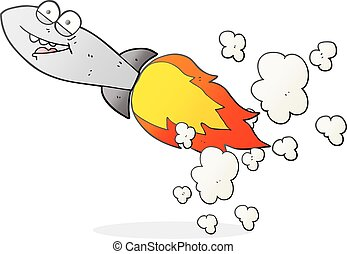 cartoon missile - freehand drawn cartoon missile