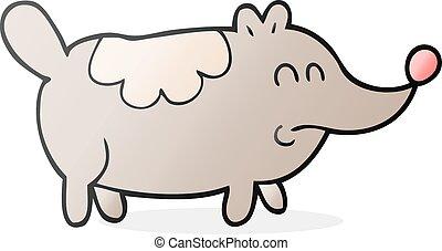 cartoon small fat dog