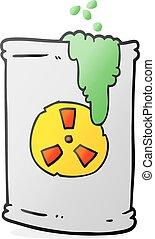 cartoon radioactive waste - freehand drawn cartoon...
