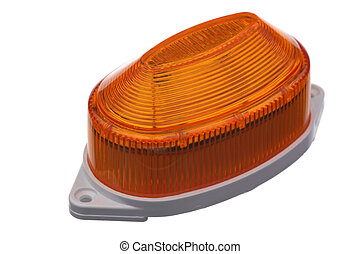 Stroboscope - The orange strobe light is isolated on a white...