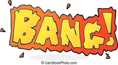 cartoon bang symbol - freehand drawn cartoon bang symbol