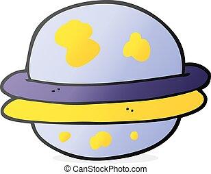 cartoon alien planet