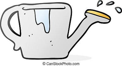 cartoon watering can - freehand drawn cartoon watering can