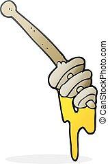 cartoon honey dipper - freehand drawn cartoon honey dipper