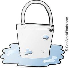 cartoon water bucket - freehand drawn cartoon water bucket
