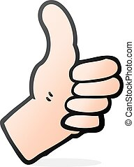 cartoon thumbs up sign