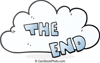 cartoon The End symbol - freehand drawn cartoon The End...