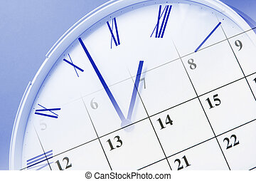 Clock and Calendar - Composite of Clock and Calendar