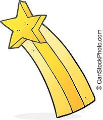 cartoon shooting star - freehand drawn cartoon shooting star