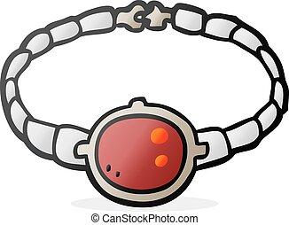 cartoon ruby bracelet - freehand drawn cartoon ruby bracelet