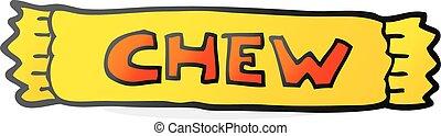 cartoon chew - freehand drawn cartoon chew