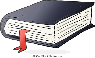 cartoon thick book - freehand drawn cartoon thick book