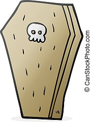 cartoon halloween coffin - freehand drawn cartoon halloween...