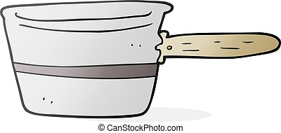 cartoon saucepan - freehand drawn cartoon saucepan