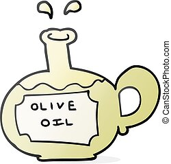 cartoon olive oil