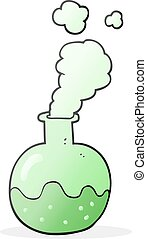 cartoon chemical reaction - freehand drawn cartoon chemical...