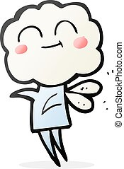 cartoon cute cloud head imp - freehand drawn cartoon cute...