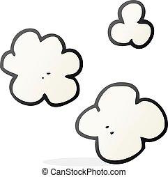 cartoon puff of smoke - freehand drawn cartoon puff of smoke